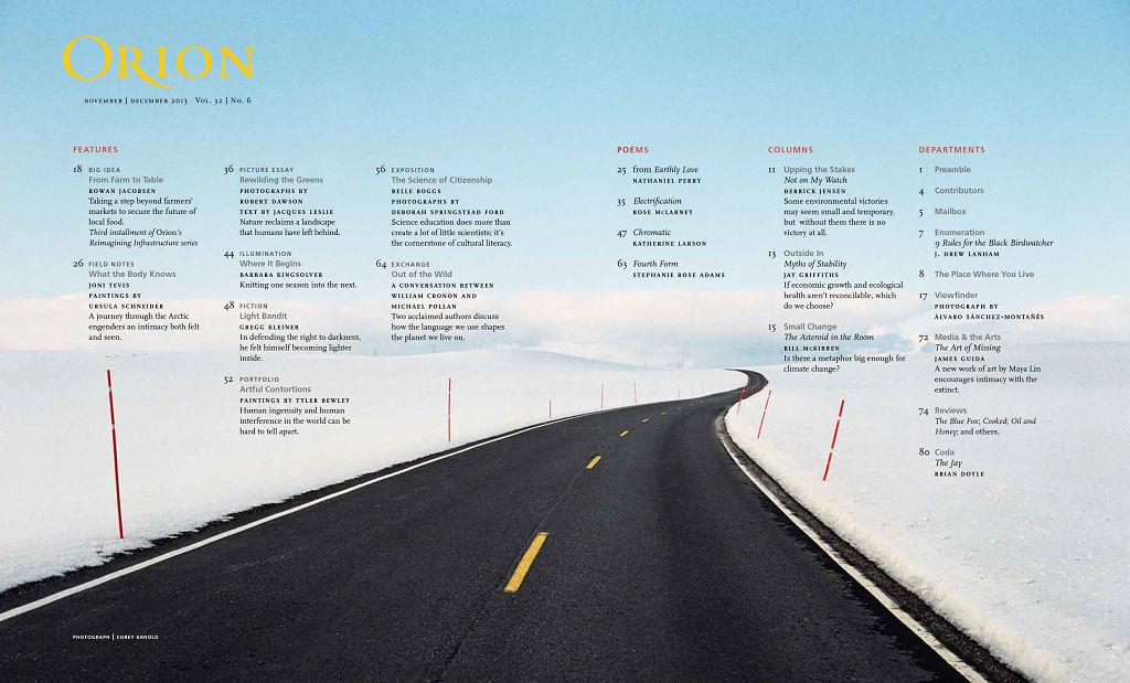 Orion Magazine, December 2013