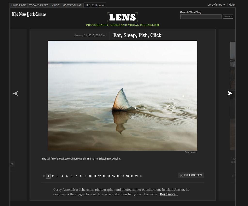 New York Times Lens Blog, Jan 20, 2013