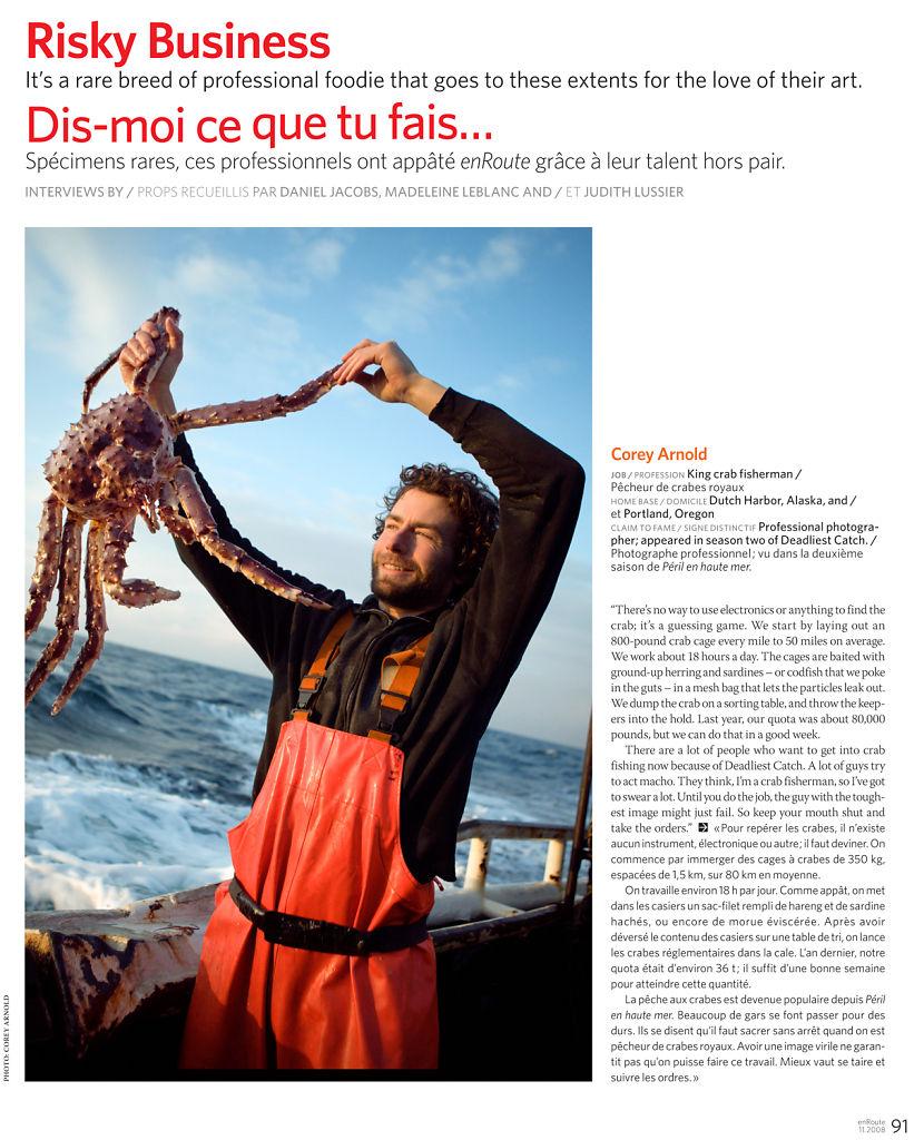 En Route Magazine (Quebec), November 2008